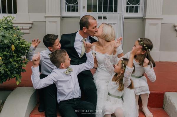 home elopement wedding